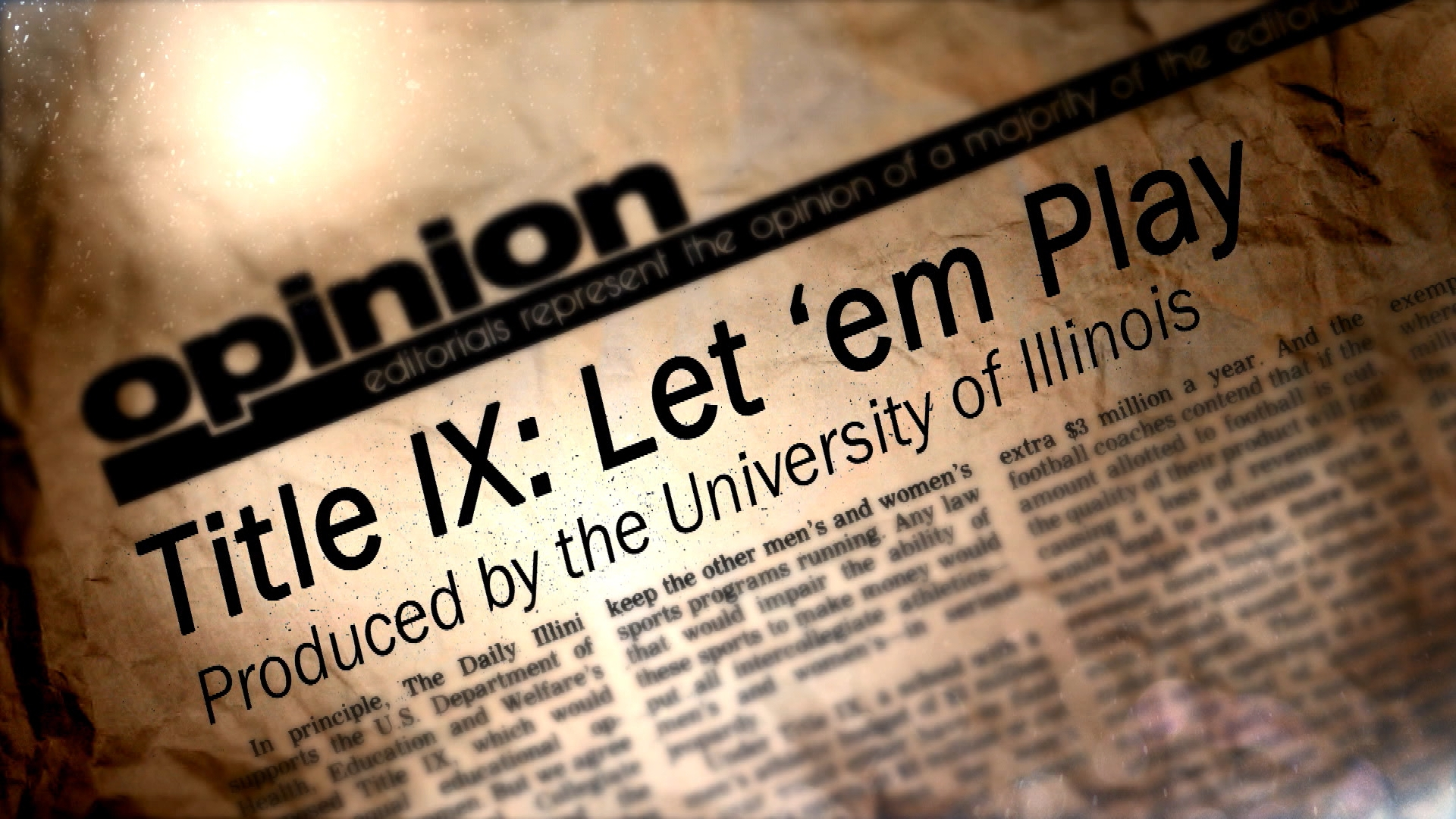 Title IX: Let 'em Play