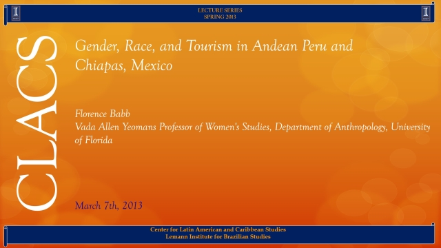 Gender, Race, and Tourism in Andean Peru and  Chiapas, Mexico