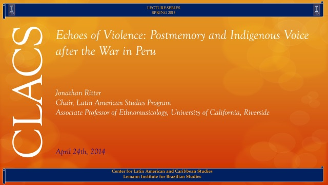 Echoes of Violence: Postmemory and Indigenous Voice after the War in Peru