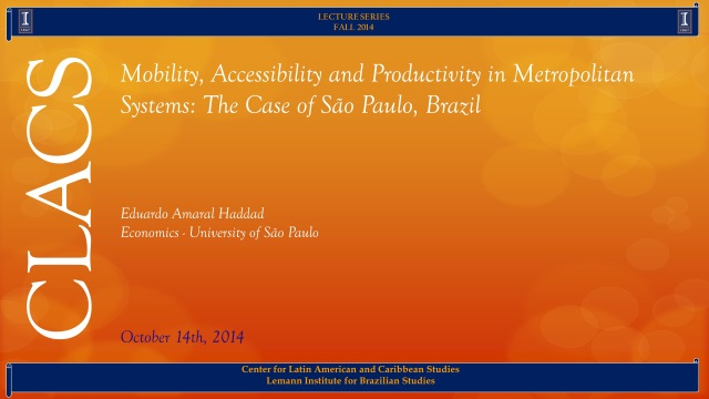 Mobility, Accessibility and Productivity in Metropolitan Systems: The Case of São Paulo, Brazil