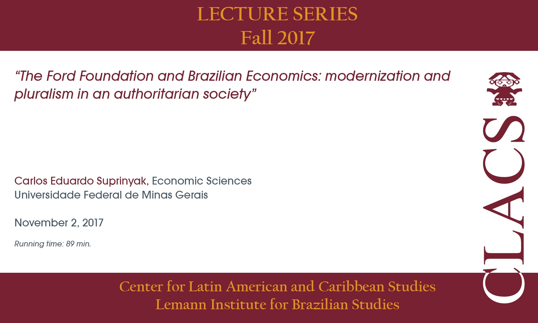 The Ford Foundation and Brazilian Economics: modernization and pluralism in an authoritarian society