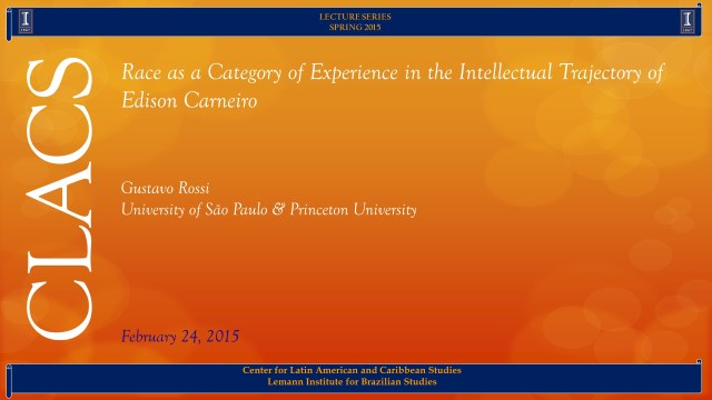 Race as a Category of Experience in the Intellectual Trajectory of Edison Carneiro