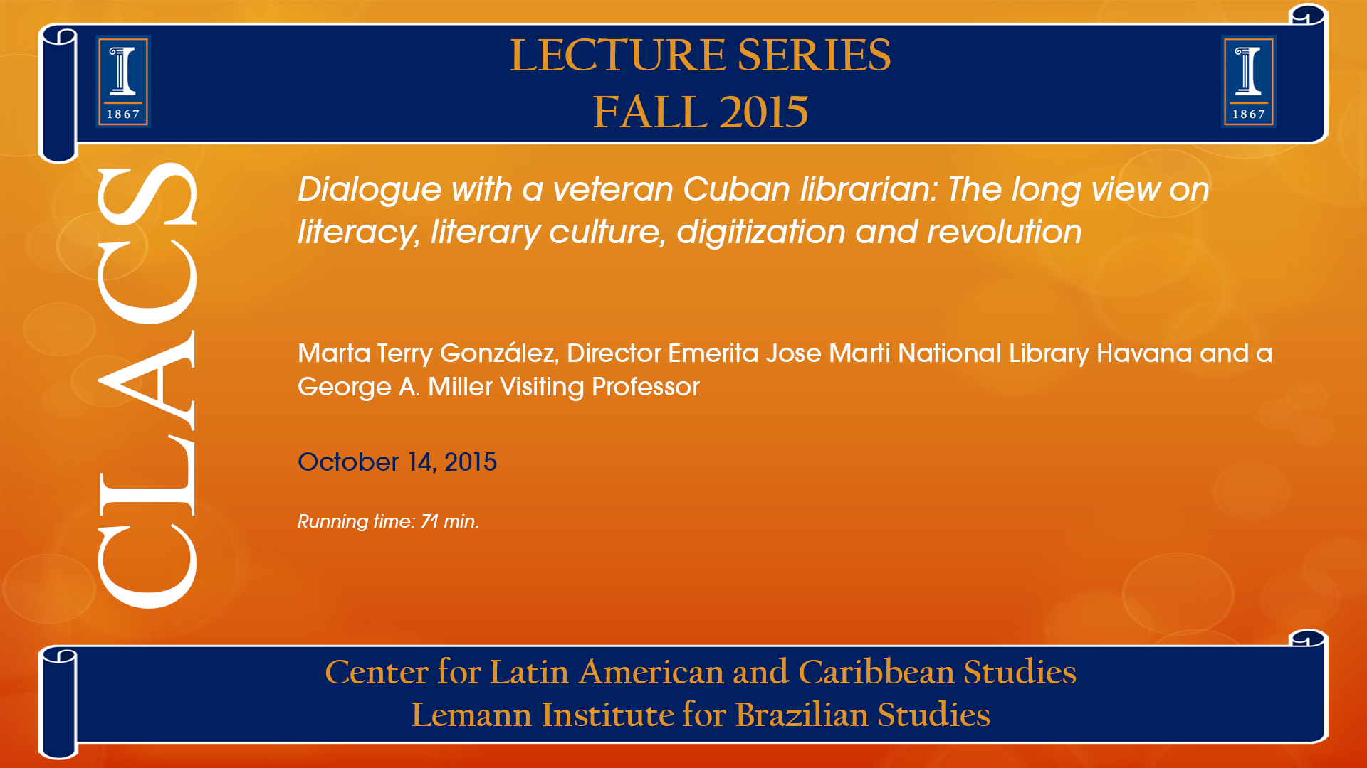 Dialogue with a veteran Cuban librarian: The long view on literacy, literary culture, digitization and revolution