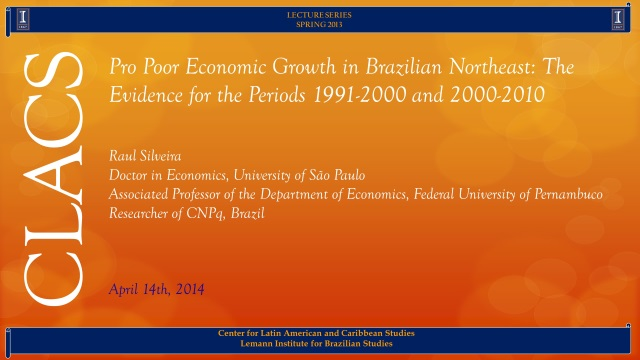 Pro Poor Economic Growth in Brazilian Northeast: The Evidence for the Periods 1991-2000 and 2000-2010
