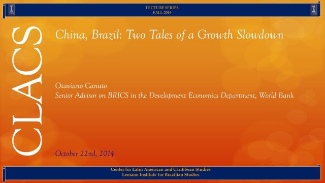 China, Brazil: Two Tales of a Growth Slowdown