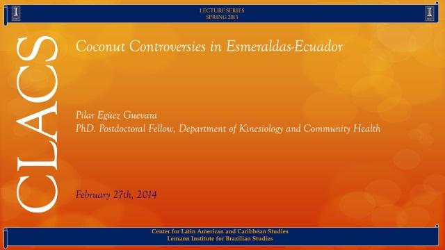 Coconut Controversies in Esmeraldas-Ecuador