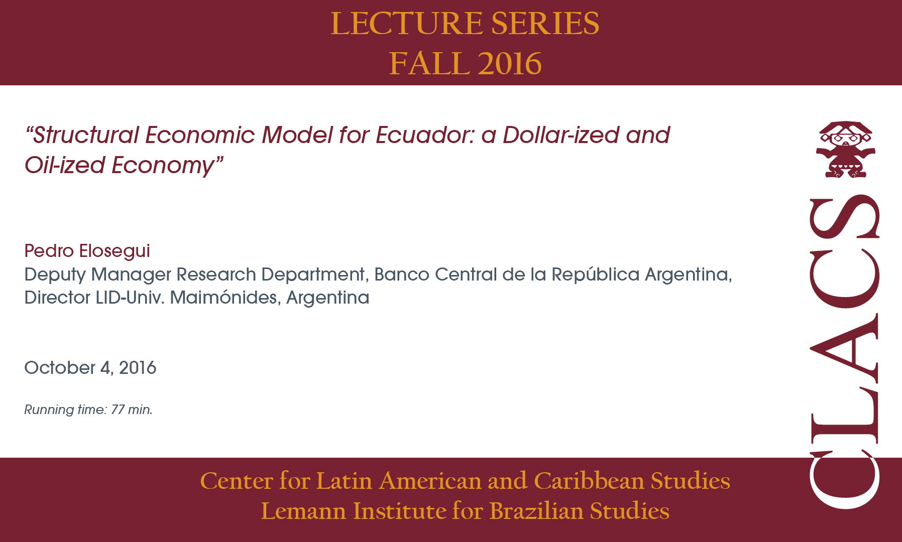 Structural Economic Model for Ecuador: a Dollar-ized and Oil-ized Economy