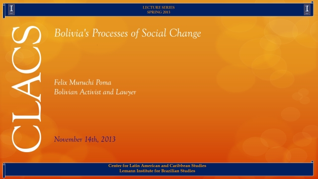 Bolivia's Processes of Social Change