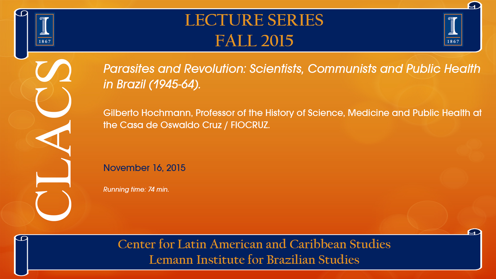 Parasites and Revolution: Scientists, Communists and Public Health in Brazil (1945-64).