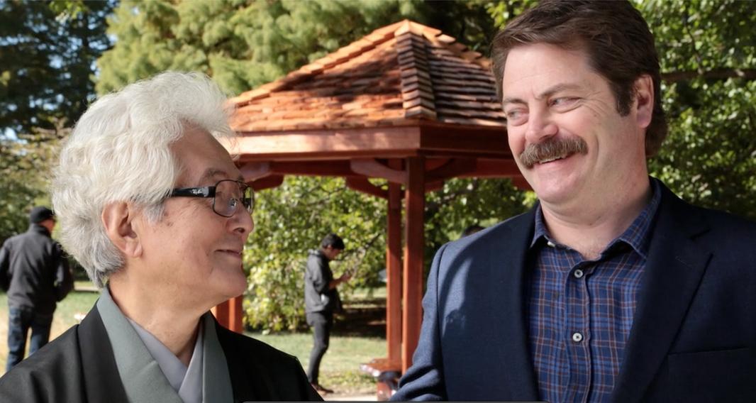 Alumnus Nick Offerman Builds Gazebo in Tribute to ...