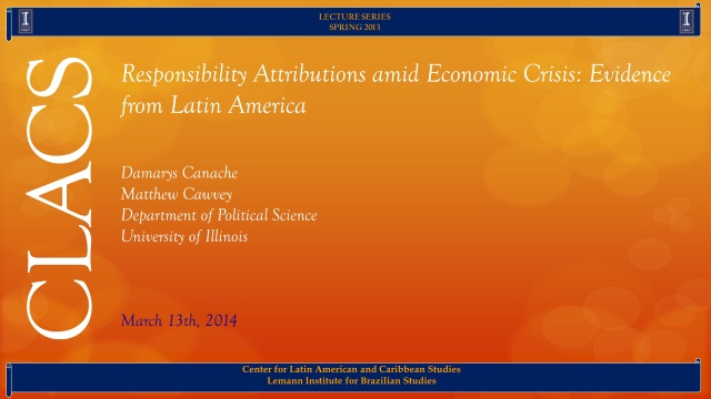Responsibility Attributions amid Economic Crisis: Evidence from Latin America