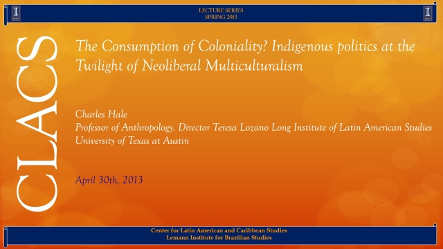 The Consumption of Coloniality? Indigenous politics at the Twilight of Neoliberal Multiculturalism