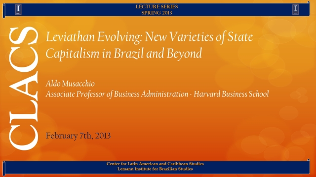 Leviathan Evolving: New Varieties of State Capitalism in Brazil and Beyond