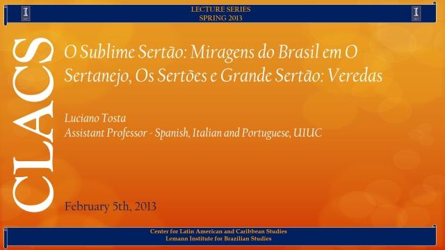 O Sublime Sertão: Miragens do Brasil em O Sertanejo, Os Sertões e Grande Sertão: Veredas