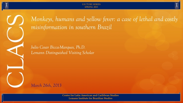 Monkeys, Humans and Yellow Fever: A Case of Lethal and Costly Misinformation in southern Brazil