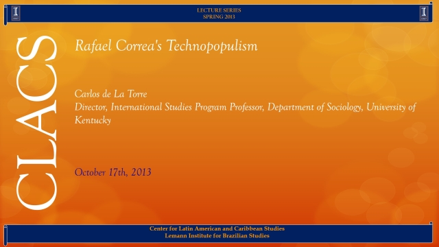 Rafael Correa's Technopopulism