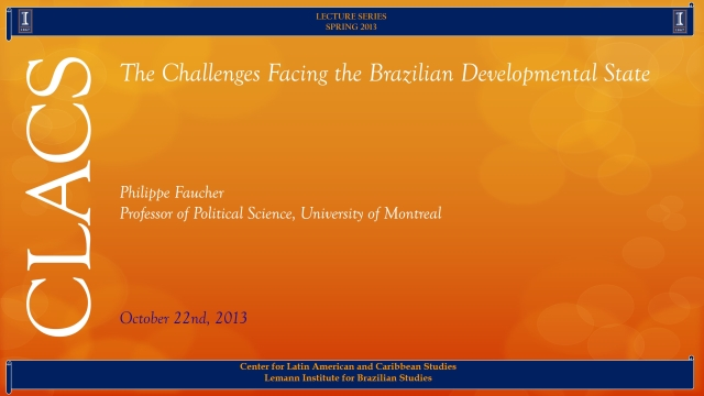 The Challenges Facing the Brazilian Developmental State