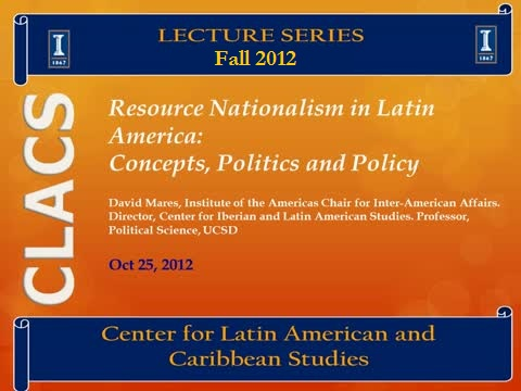 Resource Nationalism in Latin America: Concepts, Politics and Policy