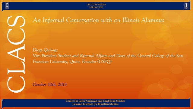 An Informal Conversation with an Illinois Alumnus