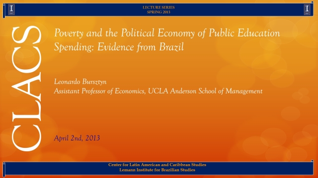 Poverty and the Political Economy of Public Education Spending: Evidence from Brazil