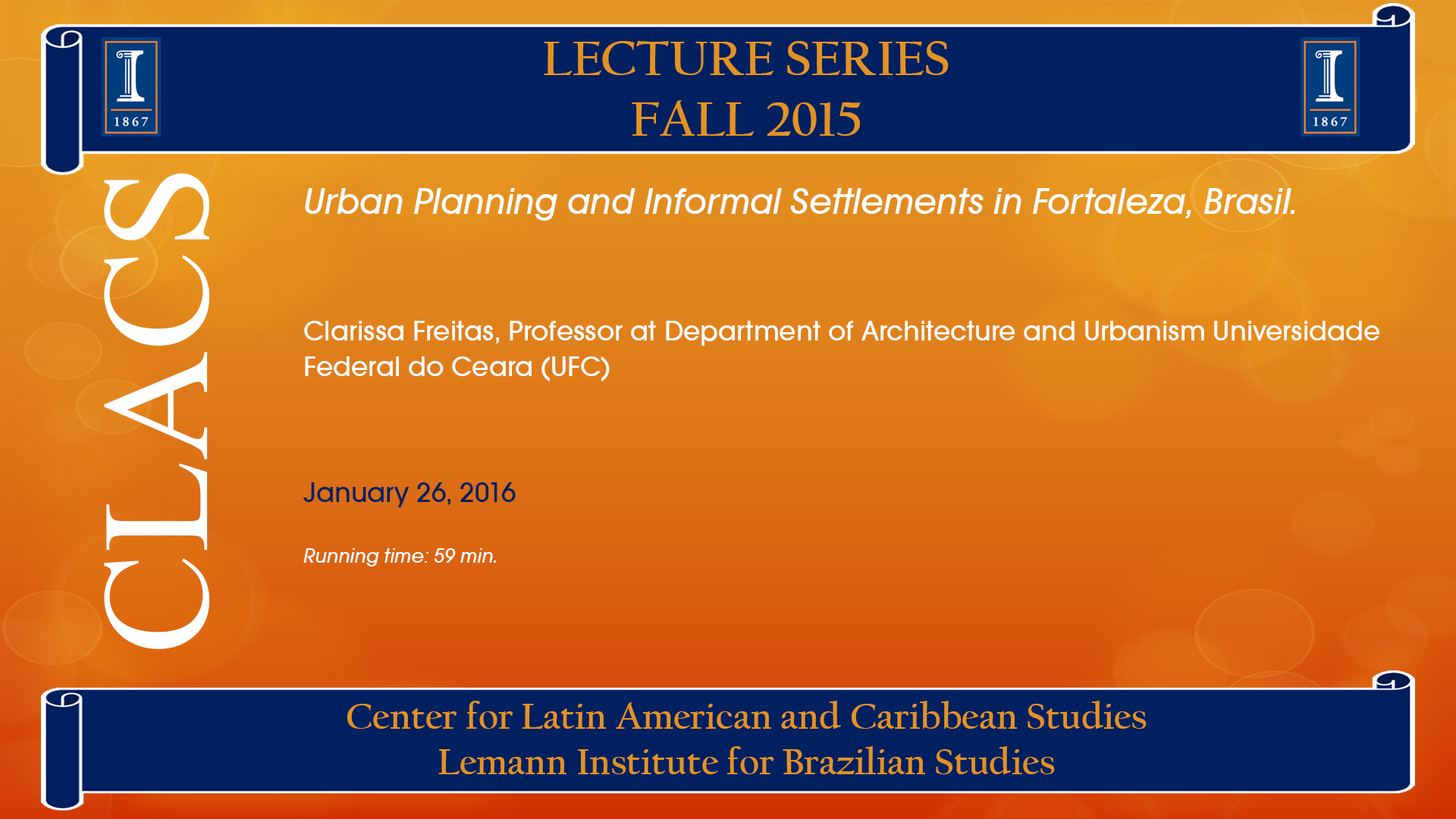 Urban Planning and Informal Settlements in Fortaleza, Brasil