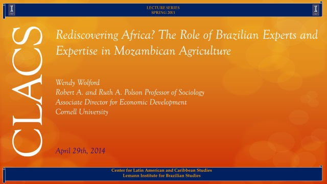 Rediscovering Africa? The Role of Brazilian Experts and Expertise in Mozambican Agriculture