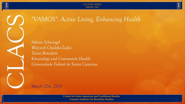 """VAMOS"": Active Living, Enhancing Health"