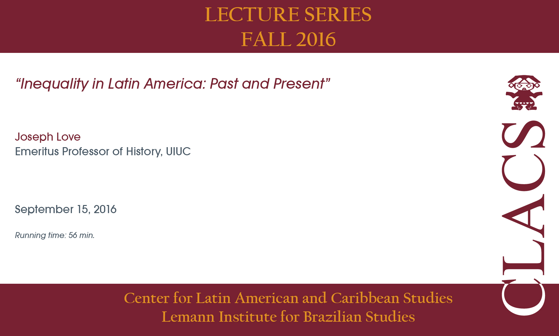 Inequality in Latin America:  Past and Present