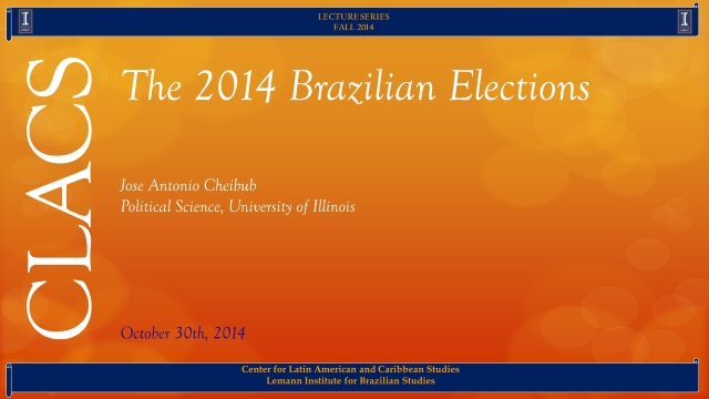 The 2014 Brazilian Elections