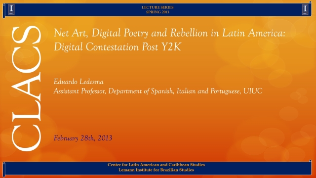 Net Art, Digital Poetry and Rebellion in Latin America: Digital Contestation Post Y2K